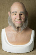 Silicone Mask Linus Halloween Masks Old Man Realistic, Halloween Hand Made