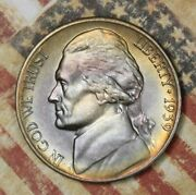1939-d Jefferson Nickel Nice Toned Collector Coin Free Shipping