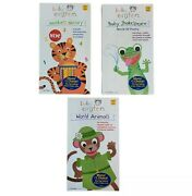 Lot Of 3 Brand New Baby Einstein Vhs Shakespeare Poetry Animals Numbers Nursery