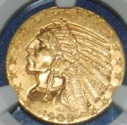 1909 5 Gold Indian Half Eagle Ms 63 Ngc