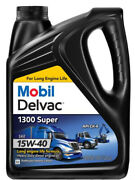 1 Gallon Mobil Delvac 1300 Super Hd Synthetic Blend Diesel Engine Oil Sae 15w-40
