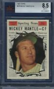 1961 Topps No. 578 Mickey Mantle Bvg 8.5 Near Mint/mint Plus Centered