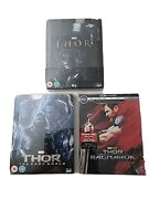 Marvel Thor Trilogy Blu-ray Steelbook Lenticular Exclusive/best Buy Hard To Find