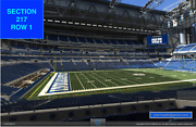 4 Front Row Jacksonville Jaguars At Indianapolis Colts Tickets Sec 217 Row 1