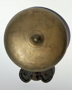 Rare Antique 1886 Brass Cast Iron Gem Gong Boxing Ring Ringside Prize Fight Bell