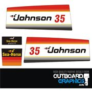Johnson 35hp Seahorse Outboard Engine Decals/sticker Kit