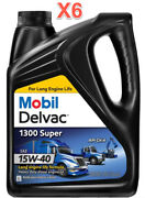 6 Gallon Mobil Delvac 1300 Super Hd Synthetic Blend Diesel Engine Oil Sae 15w-40