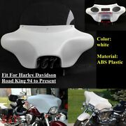 Detachable 6x9 Speakers Batwing Headlight Fairing For Harley Road King Flhrc 94+