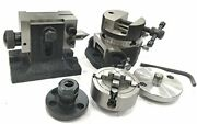 3tilting Table+er20+round Vice+tailstock+bp+nut70mm 4 Jaw Independent Chuck