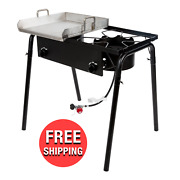Double Burner 32 Propane Gas Outdoor Griddle Camping Stove Grill Lp Stove Range
