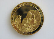1975 Franklin Mint History Of Mankind Great Wall Of China Silver Art Medal P0094