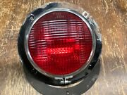 Vintage School Bus Lamp Kd 855f Early Truck Light Red Glass Ls 385 Flange Mount