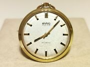 Vintage Rare Luxury 35mm Men's Ladies Gold Plated Pocket Mechanical Watch Bwc