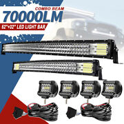 52inch 1122w Led Light Bar Combo +32 +4 Cube Pods Offroad Suv For Ford 50/30