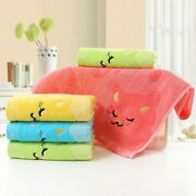 Bamboo Fiber Quickly Absorb Water Embroidered Cat Towel Cartoon Baby Hand Towel