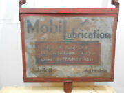 1934 35 36 Mobil Oil Lubrication Charts Large 39 X 25 Double Sided Metal Sign