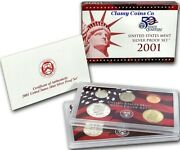 2001 S Us Silver Proof Set ☆☆ Great For Sets ☆☆ 10 Proof Coins ☆☆