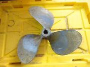 17 Inch X 18 Pitch Bronze 3 Blade Right Hand Propeller 1.25 Inch Bore -