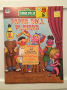 Vintage 1976 Whitman Sesame Street Paper Doll Players Muppets Theater Some Uncut