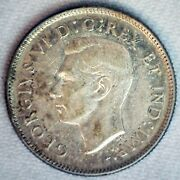 1940 Canada Silver Quarter 25c Canadian Coin Almost Uncirculated George Vi