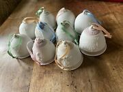 Lladro Christmas Bell Ornaments. 1987, 1988, 1989, 1990, 1991, 1992 And 1993
