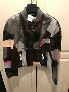 Coach - New Patchwork Racer Jacket, Pink Multicolor, Model 69883 Pmc 06, Size 6