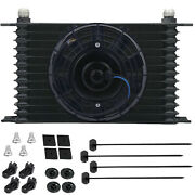 13 Row 8an Auto-motive Engine Trans-mission Oil Cooler 6 Inch Electric Fan Kit