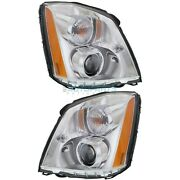 New Left And Right Hid Head Light Fits 2006-2011 Cadillac Dts Gm2502275 Gm2503275
