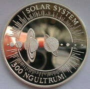 Bhutan 1992 Solar System 300 Ngultrums Silver Coinproof