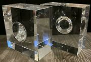 American Express Centurion Black Card Holders Crystal Glass Paper Weight B01552