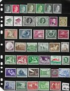 6786 Mlh Stamp Set Wwii / Adolph Hitler And Postage / Third Reich Era Germany