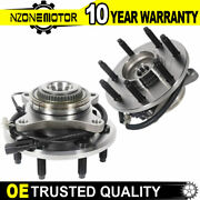 Pair Of Front Wheel Hub And Bearing Assembly For 2011-2014 Ford F-150 4wd W/ Abs