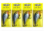4 Storm Lures Sub Wart Wiggle Crankbait Lot Crankbaits Shad Subw04 New In Pack