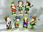 Antique Scheibe-alsbach Whimsical Little Seven Musicians Orchestra Figurines