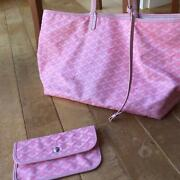 Goyard Tote Bag Women Pink Limited Authentic Rare W/storage Bag Pouch