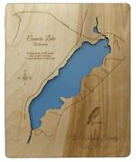 Connors Lake Wisconsin - Sawyer County - Laser Cut Wood Map