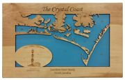 Southern Outer Banks North Carolina - Laser Cut Wood Map