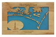 Cape Lookout Southern Outer Banks Nc - Laser Cut Wood Map