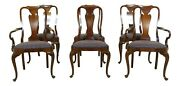 L51666ec Set Of 6 Councill Craftsmen Queen Anne Mahogany Dining Chairs