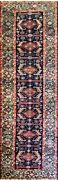 Antique Oriental Runner Bakhtiari Green Border 3and0393 X 10and0399 17125