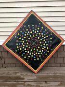1930andrsquos Folk Art Carnival Penny Pitch Game Board Sideshow Canvas On Wood