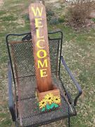 Farmhouse Style Welcome House Sign With Planter Box Many Designs