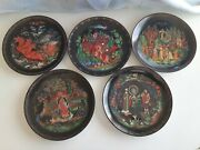 5 Vintage Plates 1988,1989,1990 Tianex Russian Legends Collector