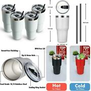Aloufea 30oz Bulk Stainless Steel Tumbler Insulated Coffee Tumbler Cup Pack Wit