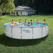 Summer Waves 14ft Elite Frame Pool With Filter Pump Cover And Ladder Ships Now