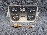 764-437 Piper Pa24-260 Instrument Cluster Assy W/ Temperature Probes Volts 14