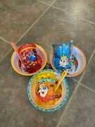 Vintage Kelloggs Cereal Fruit Loops, Rice Krispies And Frosted Flakes Bowls Cups