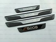 For Peugeot 5008 Accessories Door Sill Cover Guard Protector Car Sticker Trim 20