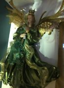 Mark Roberts Silk Angel With Flute-xl-green Teal