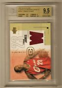 2003-04 Lebron James Ud Glass Clear Cut Winner Jersey Rc Bgs 9.5 99/350 Rookie